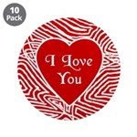 """I Love You Heart 3.5"""" Button (10 pack)"""