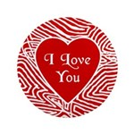 """I Love You Heart 3.5"""" Button"""