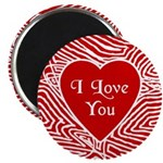 "I Love You Heart 2.25"" Magnet (10 pack)"