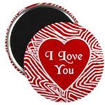 "I Love You Heart 2.25"" Magnet (100 pack)"