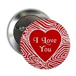 """I Love You Heart 2.25"""" Button"""