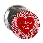"""I Love You Heart 2.25"""" Button (100 pack)"""