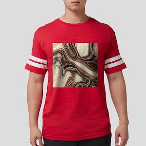 rustic brown swirls marble T-Shirt