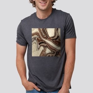 rustic brown swirls marble T-Shirt