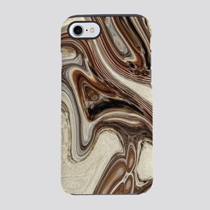 rustic brown swirls marble iPhone 8/7 Tough Case