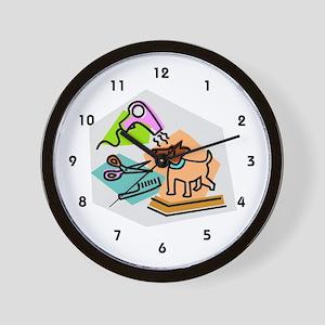 Pet Groomer Wall Clock