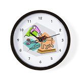 Dog groomer Wall Clocks