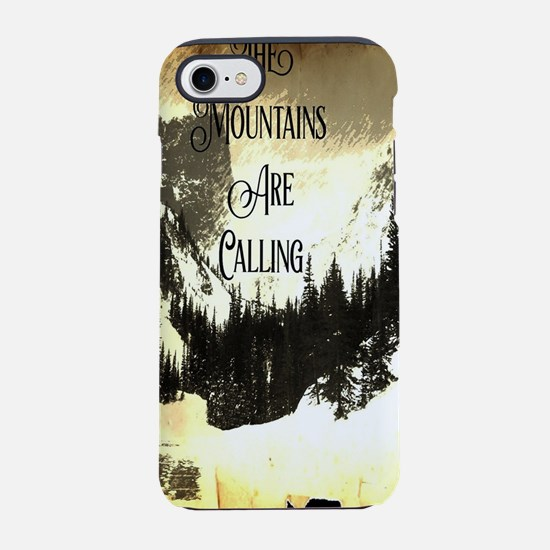 rustic mountains are calling iPhone 8/7 Tough Case
