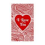 I Love You Heart Rectangle Sticker