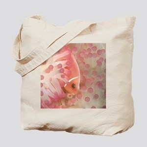 Pink Anemone Fish Tote Bag