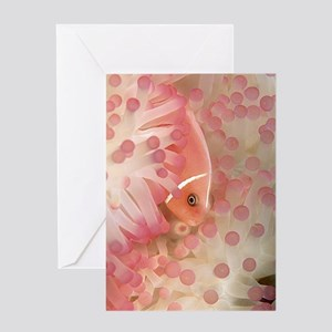 Pink Anemone Fish Greeting Card