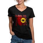 Year of the Rat Women's V-Neck Dark T-Shirt