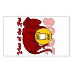 Year of the Rat Rectangle Sticker