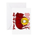 Year of the Rat Greeting Cards (Pk of 10)