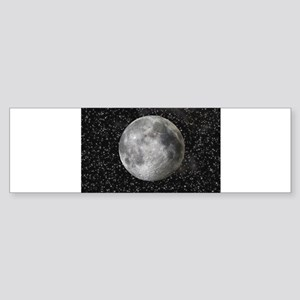 Moon and Stars Bumper Sticker
