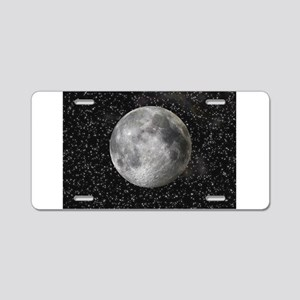 Moon and Stars Aluminum License Plate