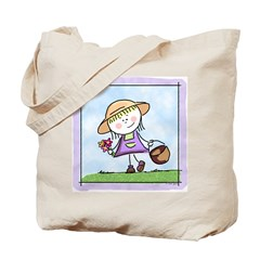 Garden Girl Tote Bag