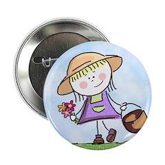 Garden Girl Button