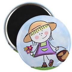 Garden Girl Magnet
