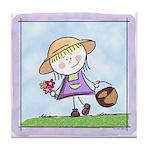 Garden Girl Art Tile