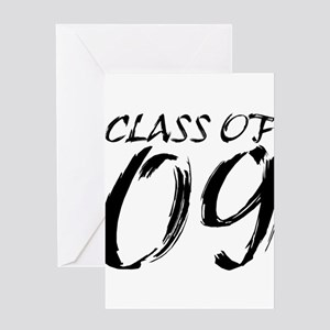 Class of 2009 Paintbrush Greeting Card