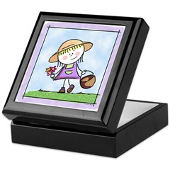 Garden Girl Keepsake Box