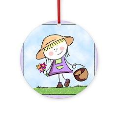 Garden Girl Keepsake (Round)