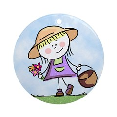 Garden Girl Keepsake (Round)