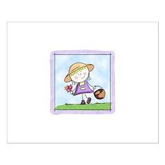 Garden Girl 15x15 Poster