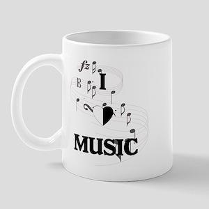I Love Music Mug