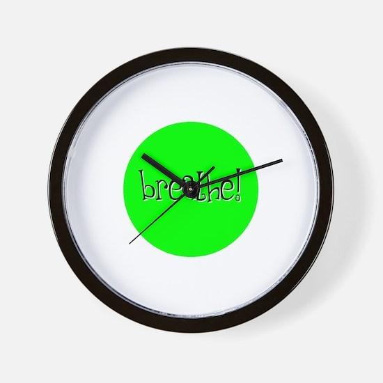 Breathe Green Wall Clock