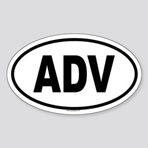 ADV Oval Sticker