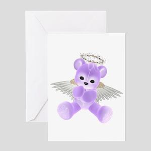 PURPLE ANGEL BEAR 2 Greeting Card