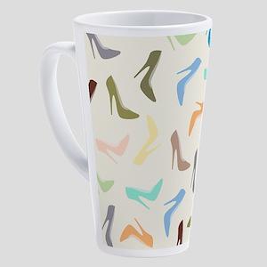 High Heel Shoes Art 17 oz Latte Mug