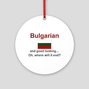 Gd Lkg Bulgarian Ornament w/ribbon