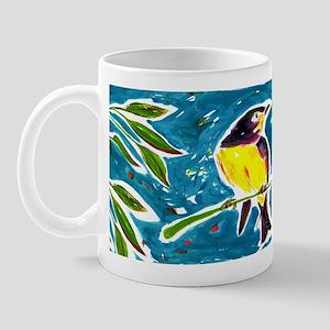 Yellow Bird on Branch Mug