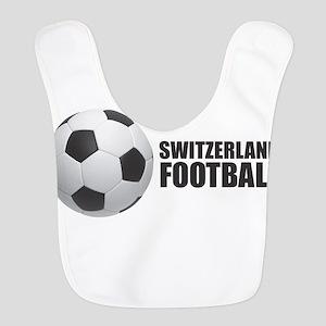 Switzerland Football Polyester Baby Bib
