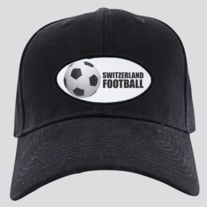 Switzerland Football Black Cap with Patch