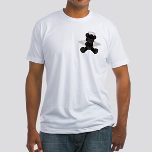 BLACK ANGEL BEAR Fitted T-Shirt