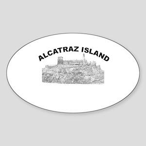 Alcatraz Island Oval Sticker