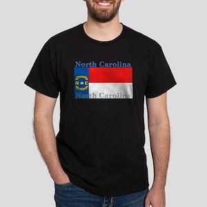 North Carolina State Flag Dark T-Shirt