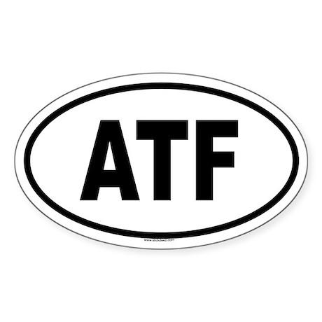 ATF Oval Sticker
