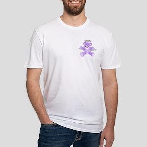 PURPLE ANGEL BEAR Fitted T-Shirt