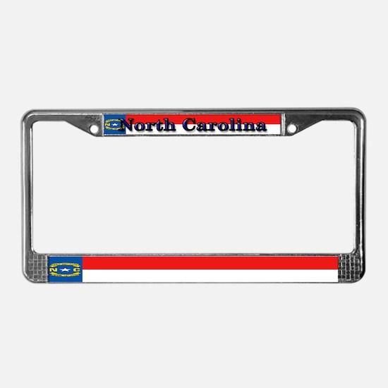 North Carolina Blank Flag License Plate Frame