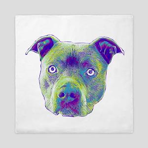 Pitbull Dog Queen Duvet