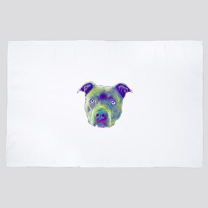 Pitbull Dog 4' x 6' Rug