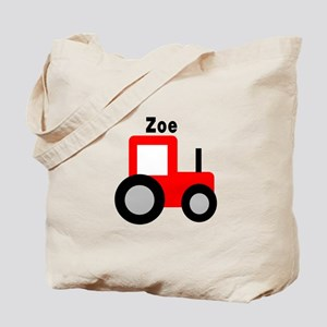 Zoe - Red Tractor Tote Bag