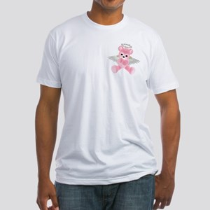 PINK ANGEL BEAR 2 Fitted T-Shirt