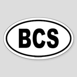 BCS Oval Sticker