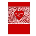 I Love You Heart Postcards (Package of 8)